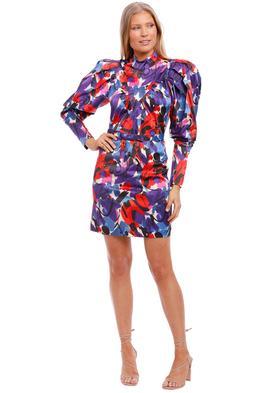 Rotate By Birger Christensen Ida High Neck Mini Dress