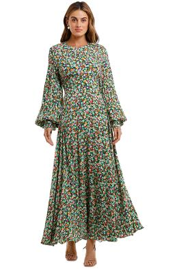 Rotate By Birger Christensen Mary Long Sleeve Dress Floral