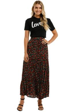 Rue-Stiic-Lila-Tiered-Skirt-Farrah-Rose-Black-Front