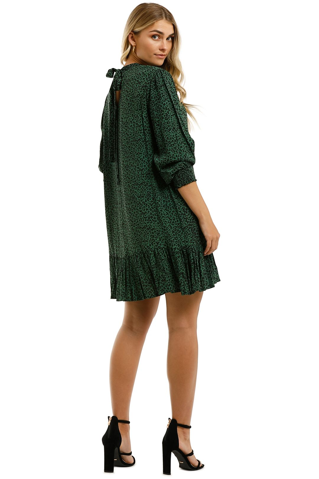 Rue-Stiic-Lily-Mini-Dress-Nala-Mountain-Green-Back