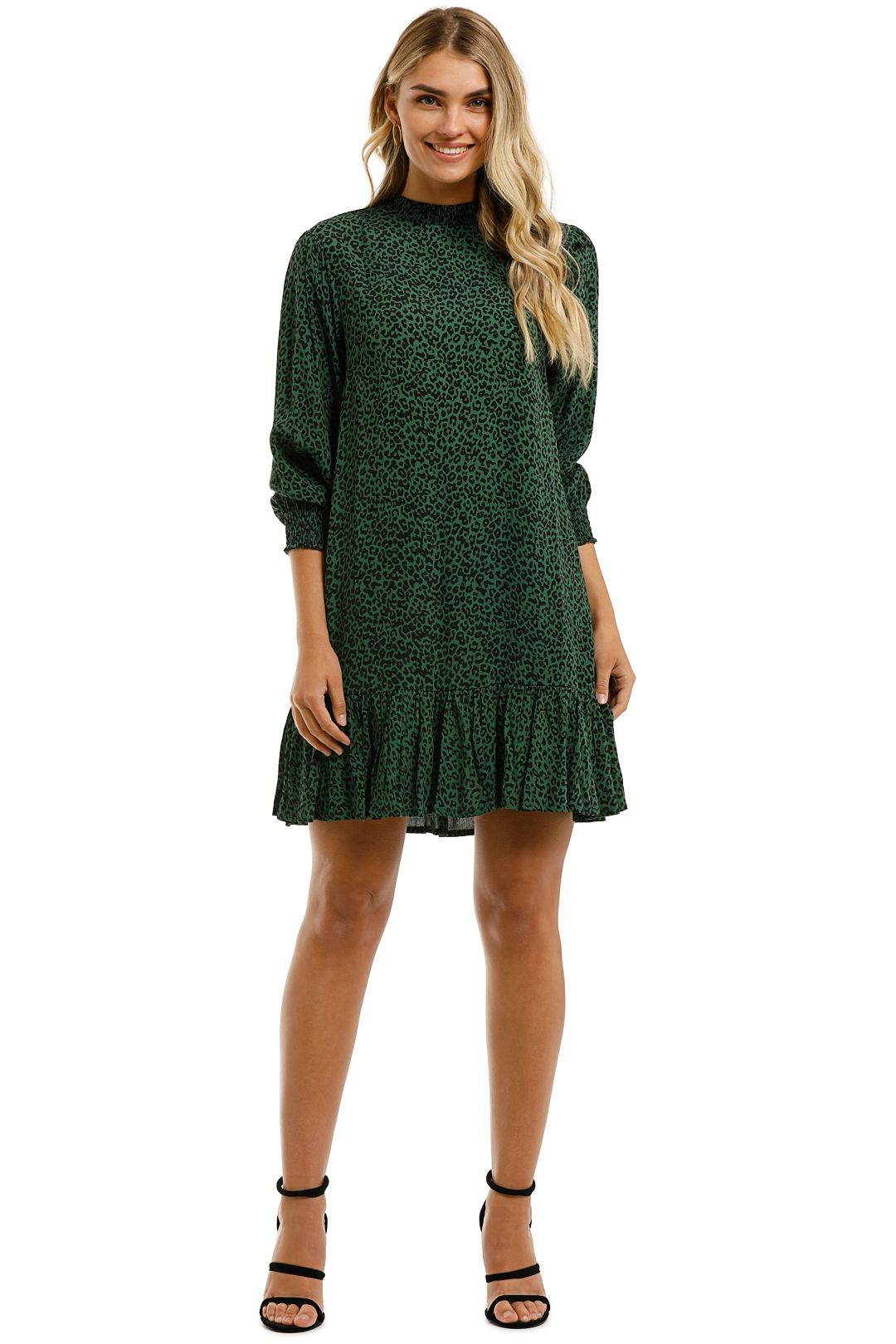 Rue-Stiic-Lily-Mini-Dress-Nala-Mountain-Green-Front