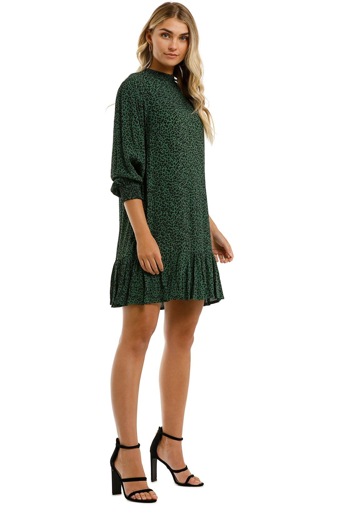 Rue-Stiic-Lily-Mini-Dress-Nala-Mountain-Green-Side