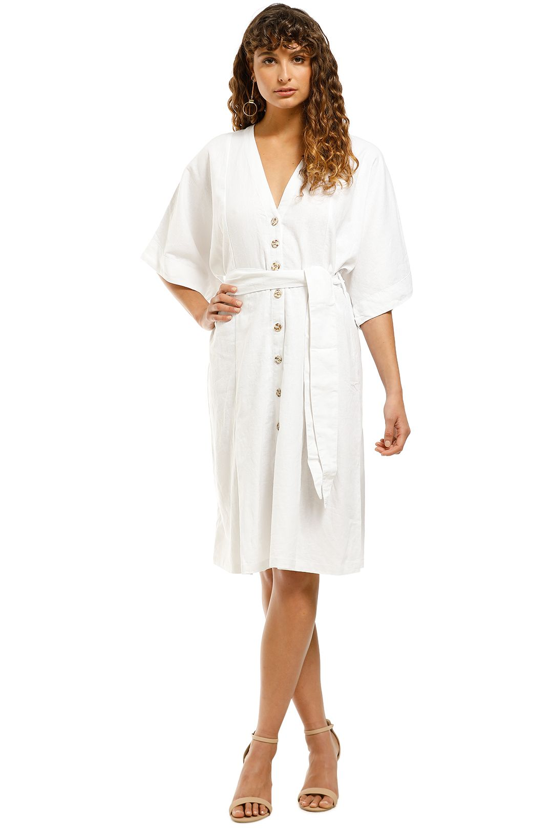 Rue-Stiic-Maverick-Midi-Dress-White-Front