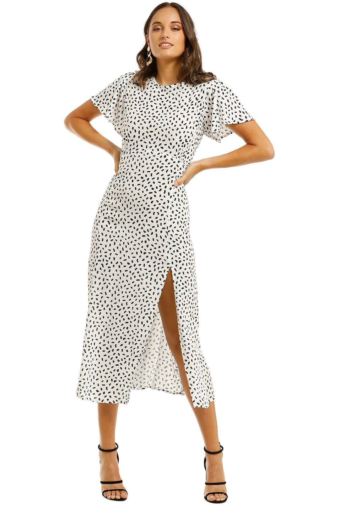 Rue-Stiic-Paso-Dress-Polka-Stroke-Ink-Front