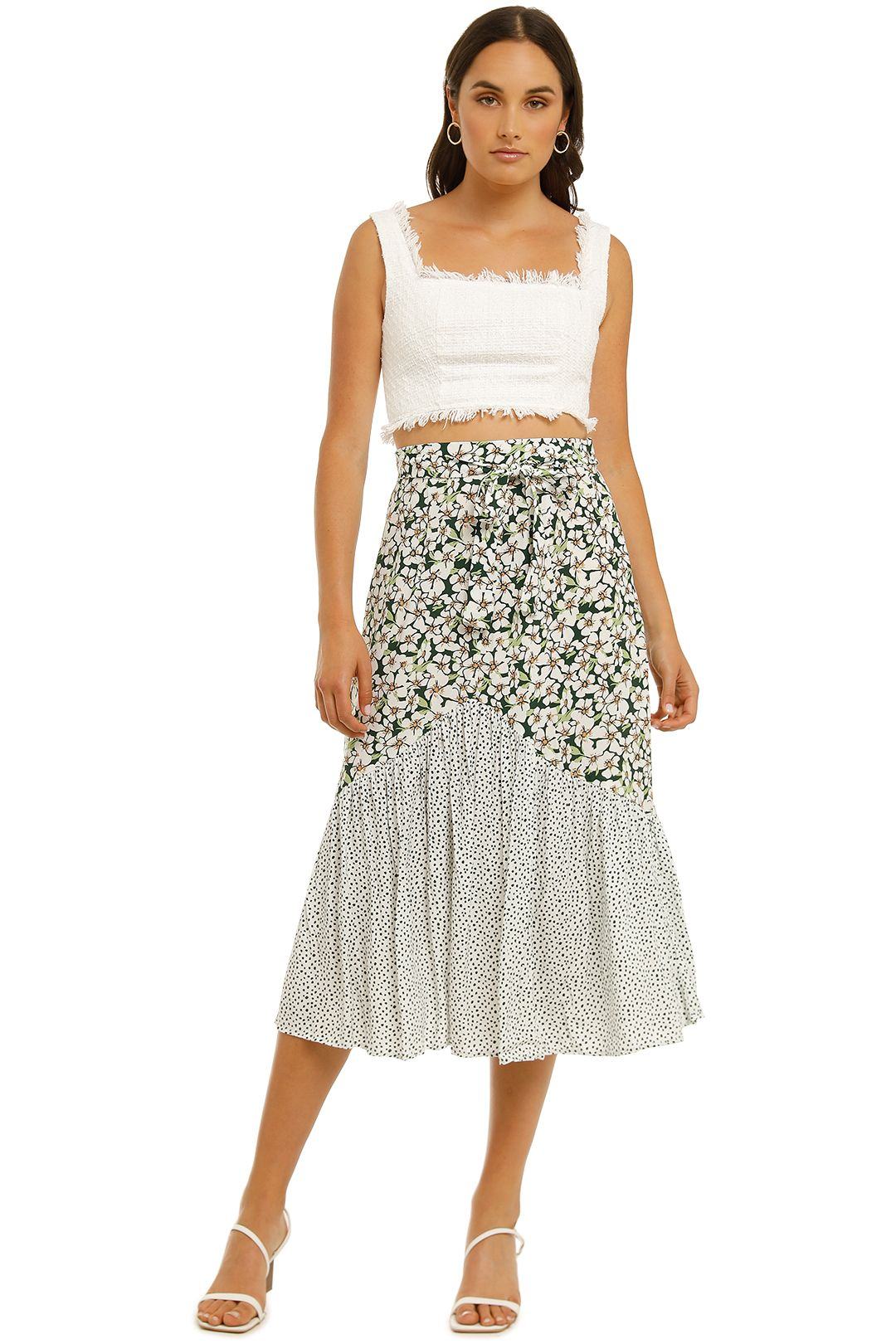 Rue-Stiic-Sheffield-Skirt-Emerald-Posy-Floral-Confetti-Mix-Front