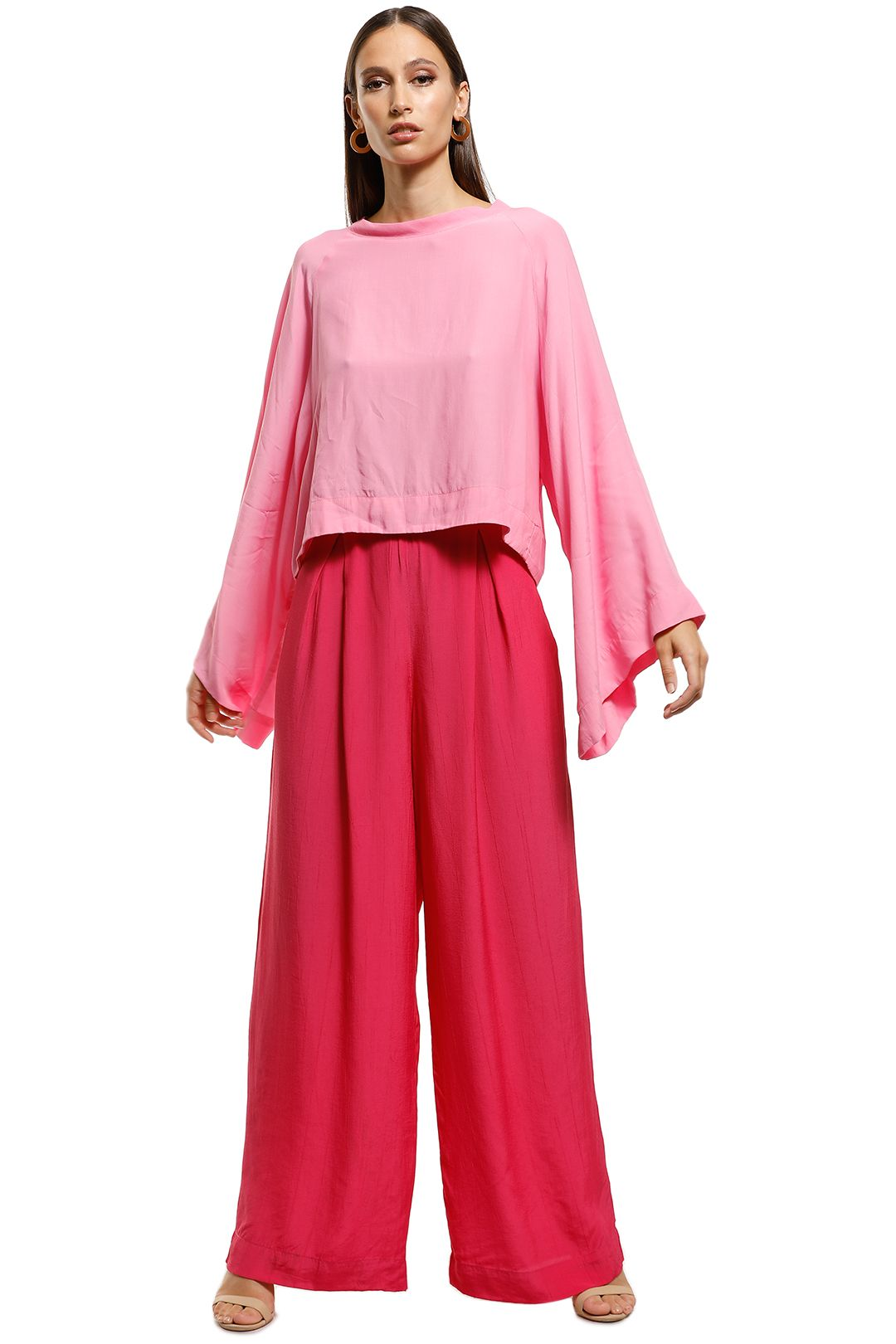 S/W/F - Dart Pant - Pink - Front
