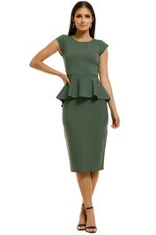 Saba-Amara-Milano-Top-and-Skirt-Set-Olive-Front