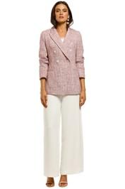 Saba-Elsy-Tweed-Longline-Blazer-Pink-Front