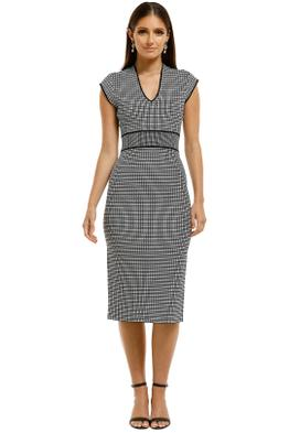 Saba-Mara-Milano-Check-Dress-Black-and-White-Front