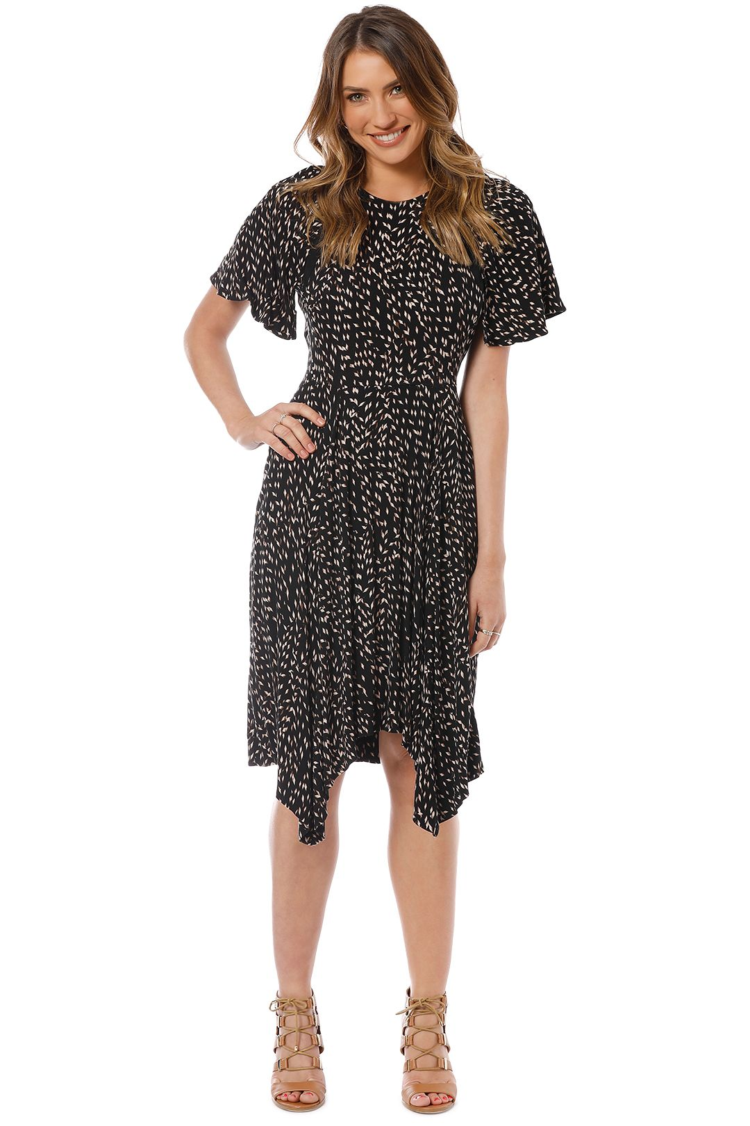Saba - Basketweave Dress - Multi - Front
