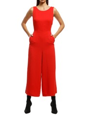 Saba - Dharma Tie Jumpsuit - Red - Front