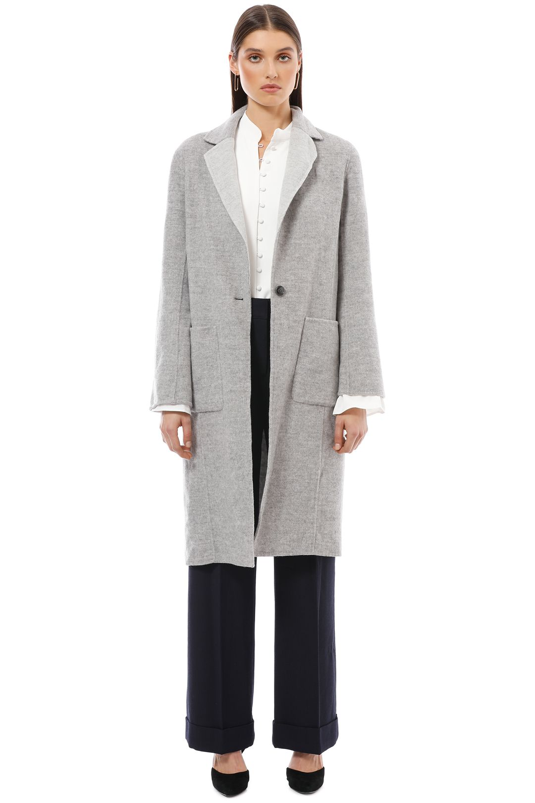 Saba - Kayla Reversible Coat - Grey - Front