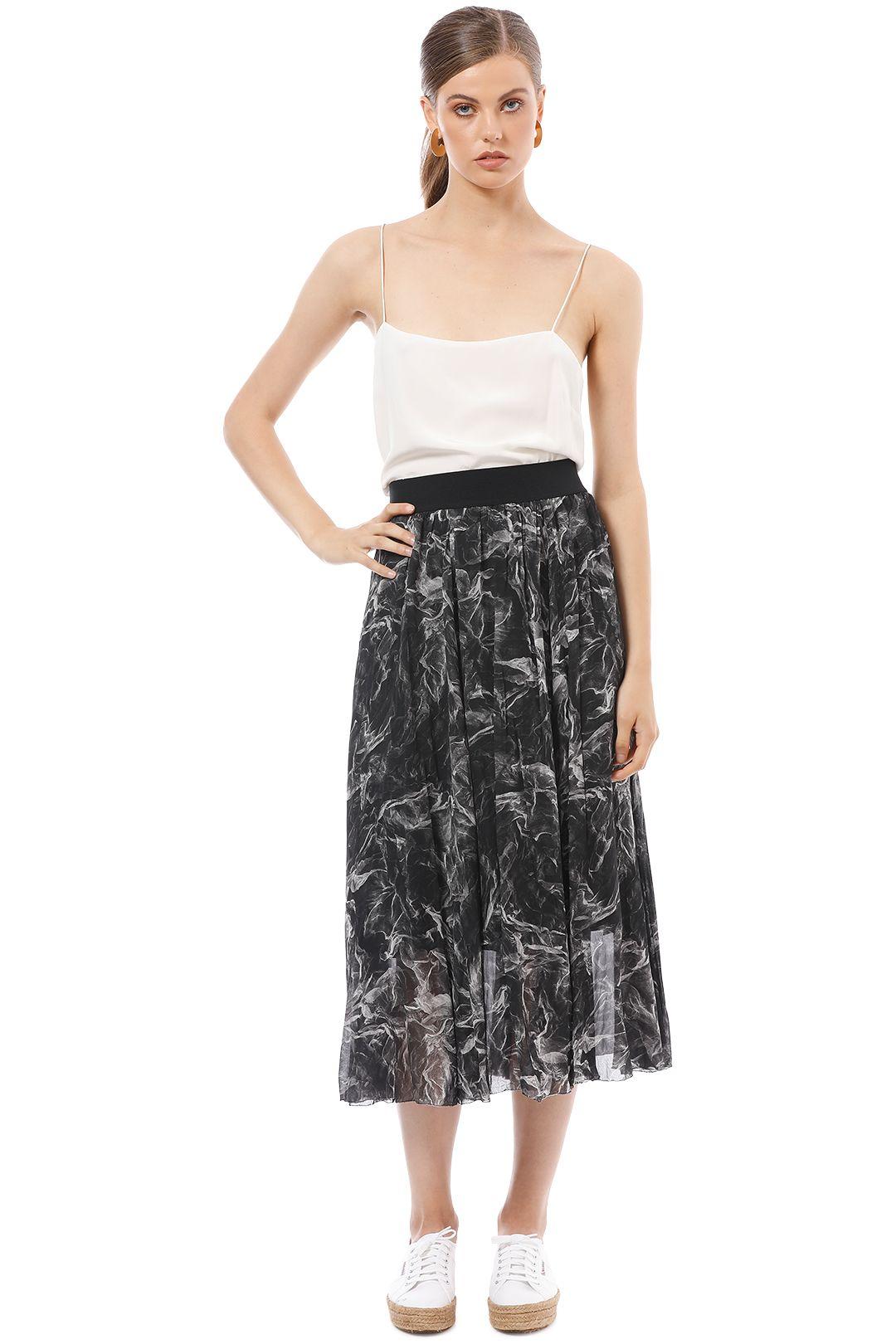 Saba - Misty Midi Skirt - Print - Front