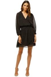 Saba - Radial Mini Dress - Black - Front
