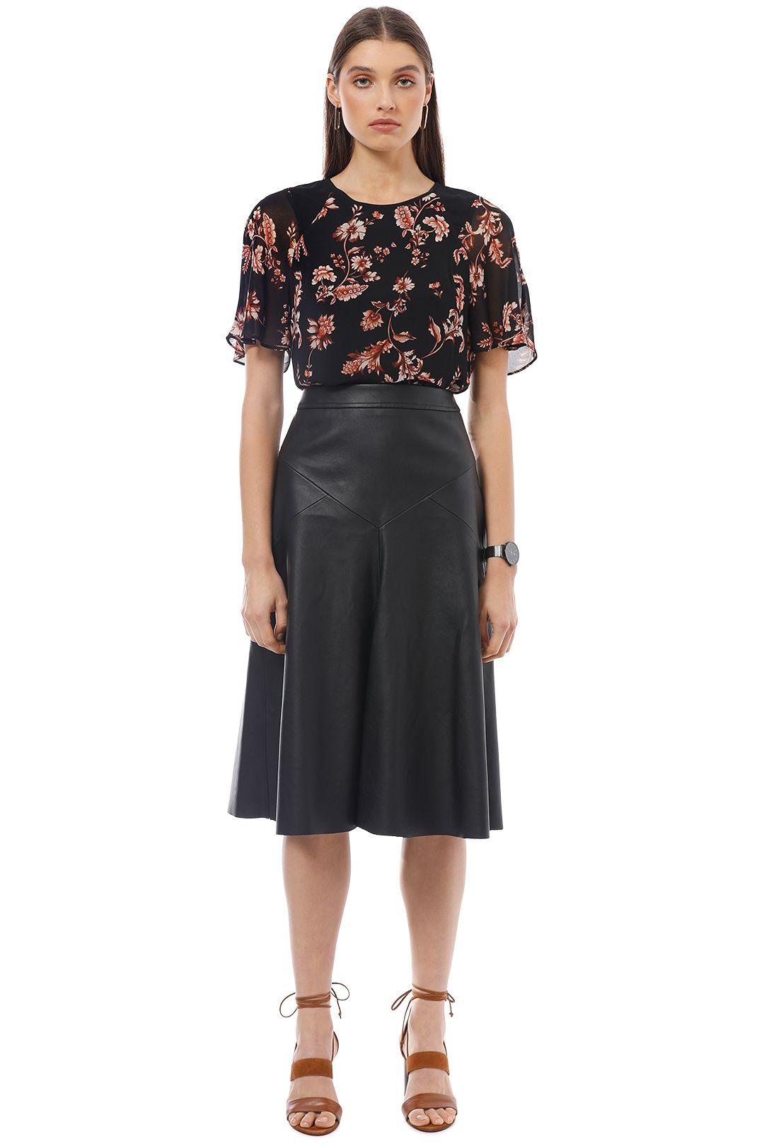 Saba - Rhiannon Floral Top - Black - Front