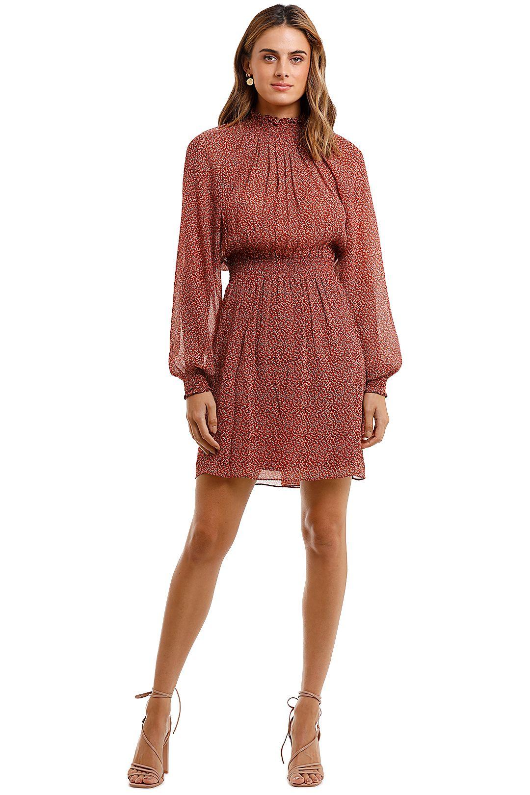 Saba Filigree Silk Mini Dress