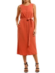 Saints-The-Label-Ardern-Dress-Rust-Front