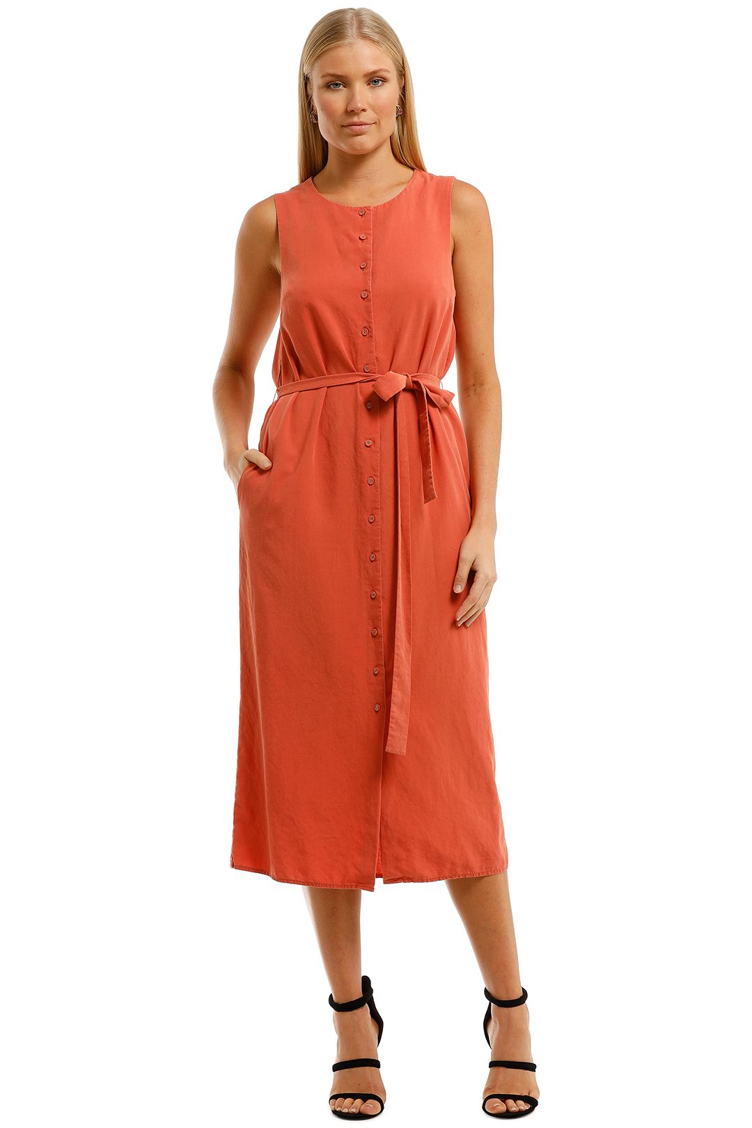 Saints-The-Label-Ardern-Dress-Rust-Front