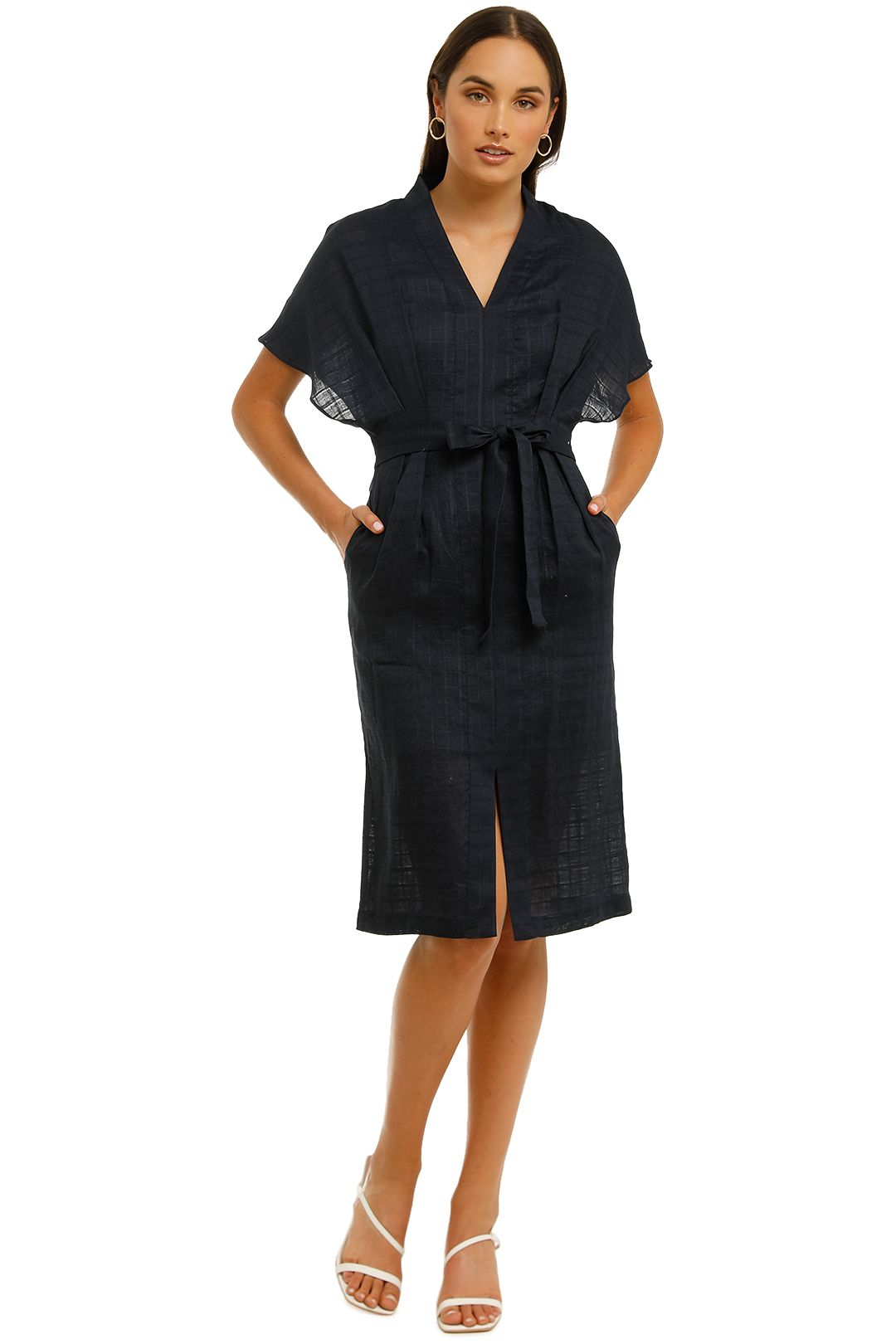 Saints-the-Label-Hampton-Dress-Navy-Front