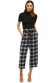 Saints-The-Label-Indiana-Pant-Blue-Check-Front