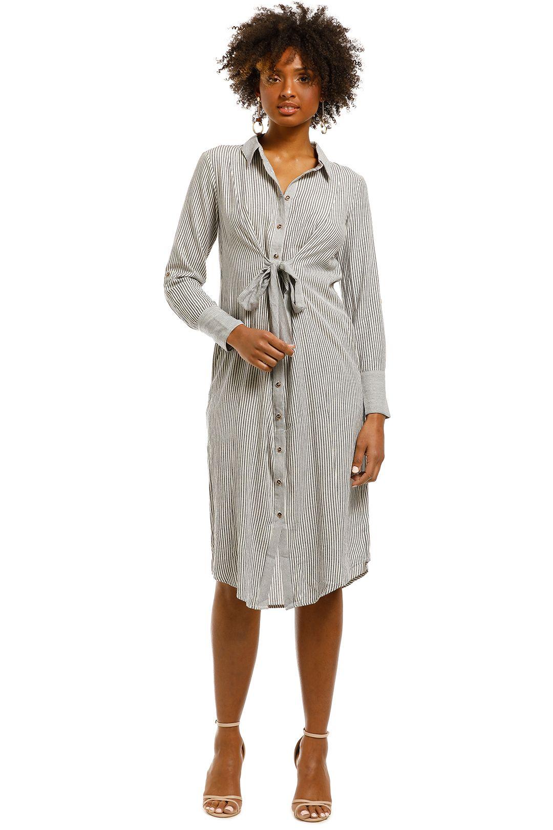 Saints-The-Label-Rowling-Dress-Navy-Stripe-Front