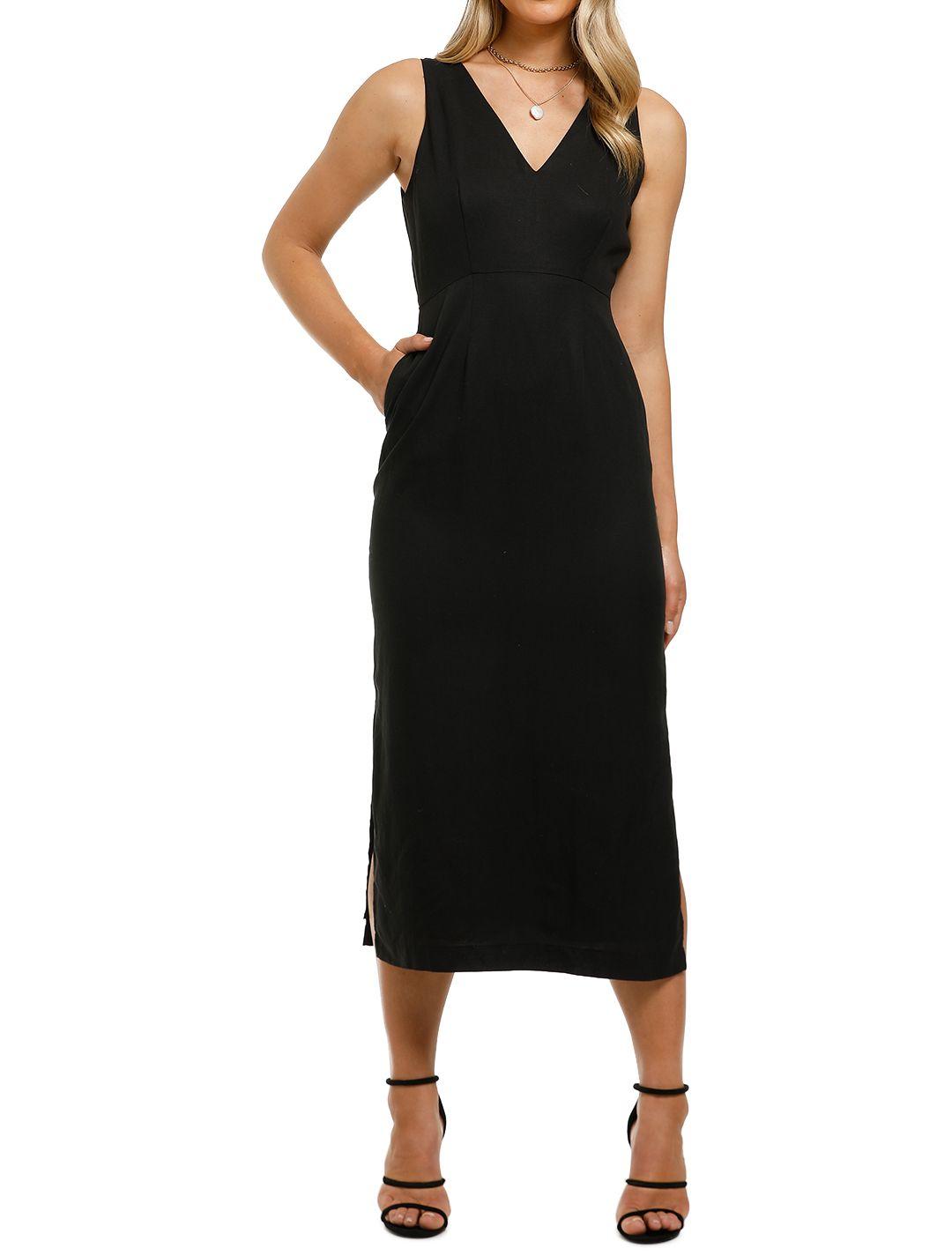 Saints-the-Label-Toorak-Dress-Black-Front