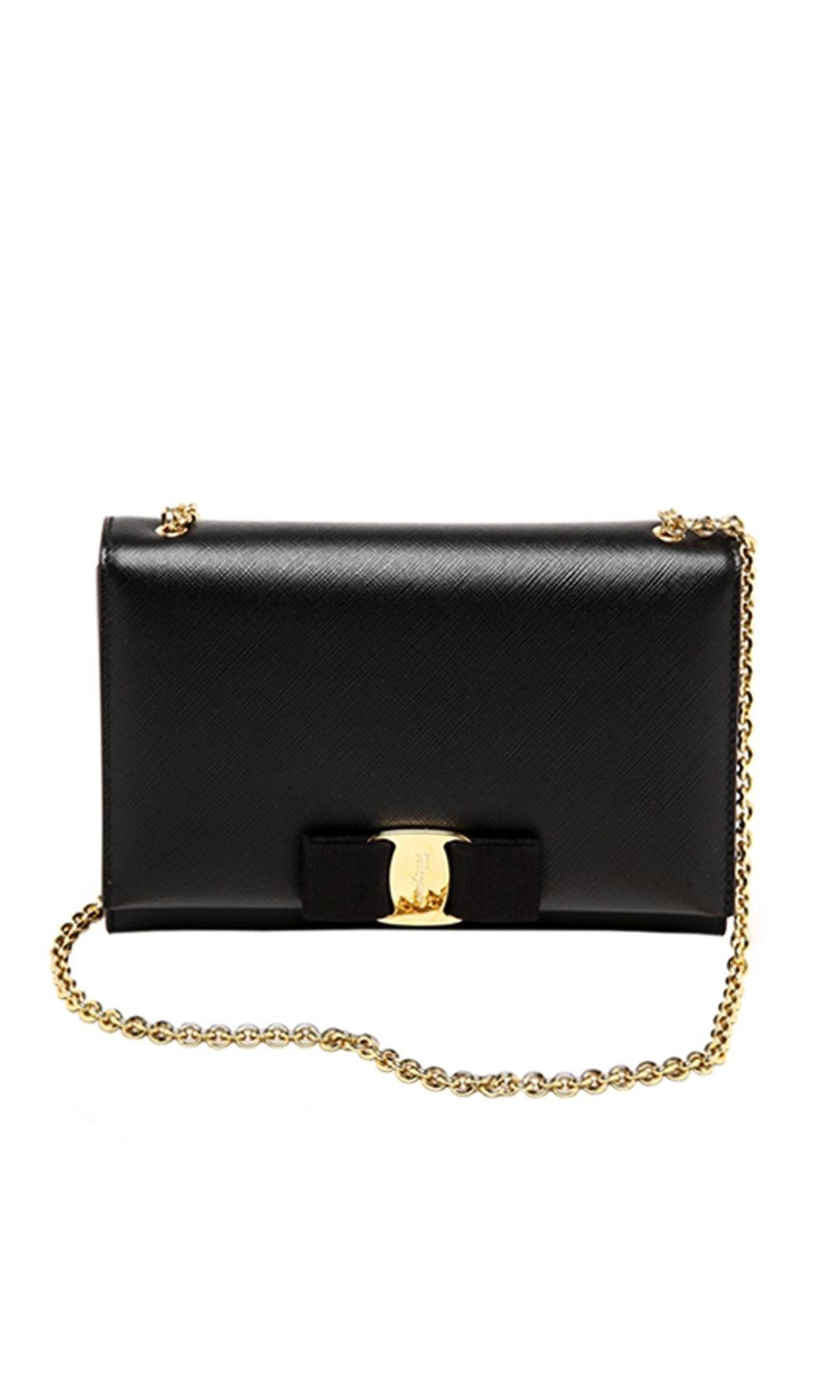 Salvatore Ferragamo - Miss Vara Mini Bag - Black - Front