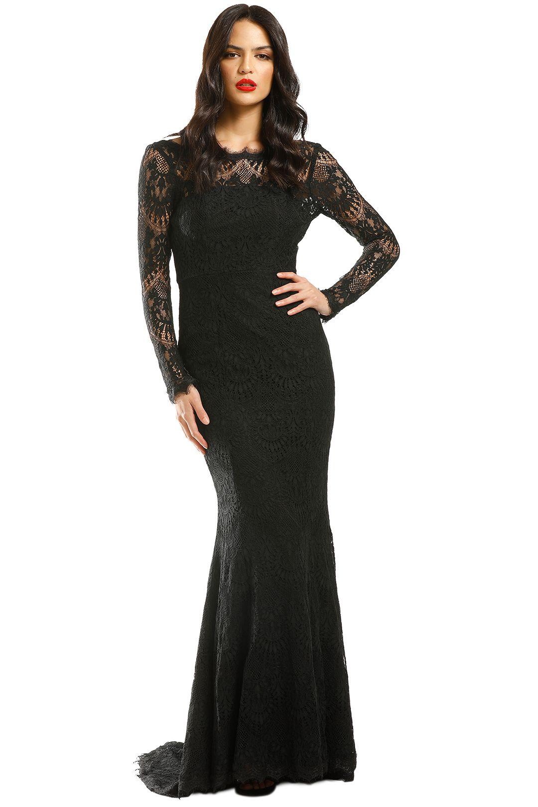 Samantha-Rose-La-Rochelle-Gown-Black-Front