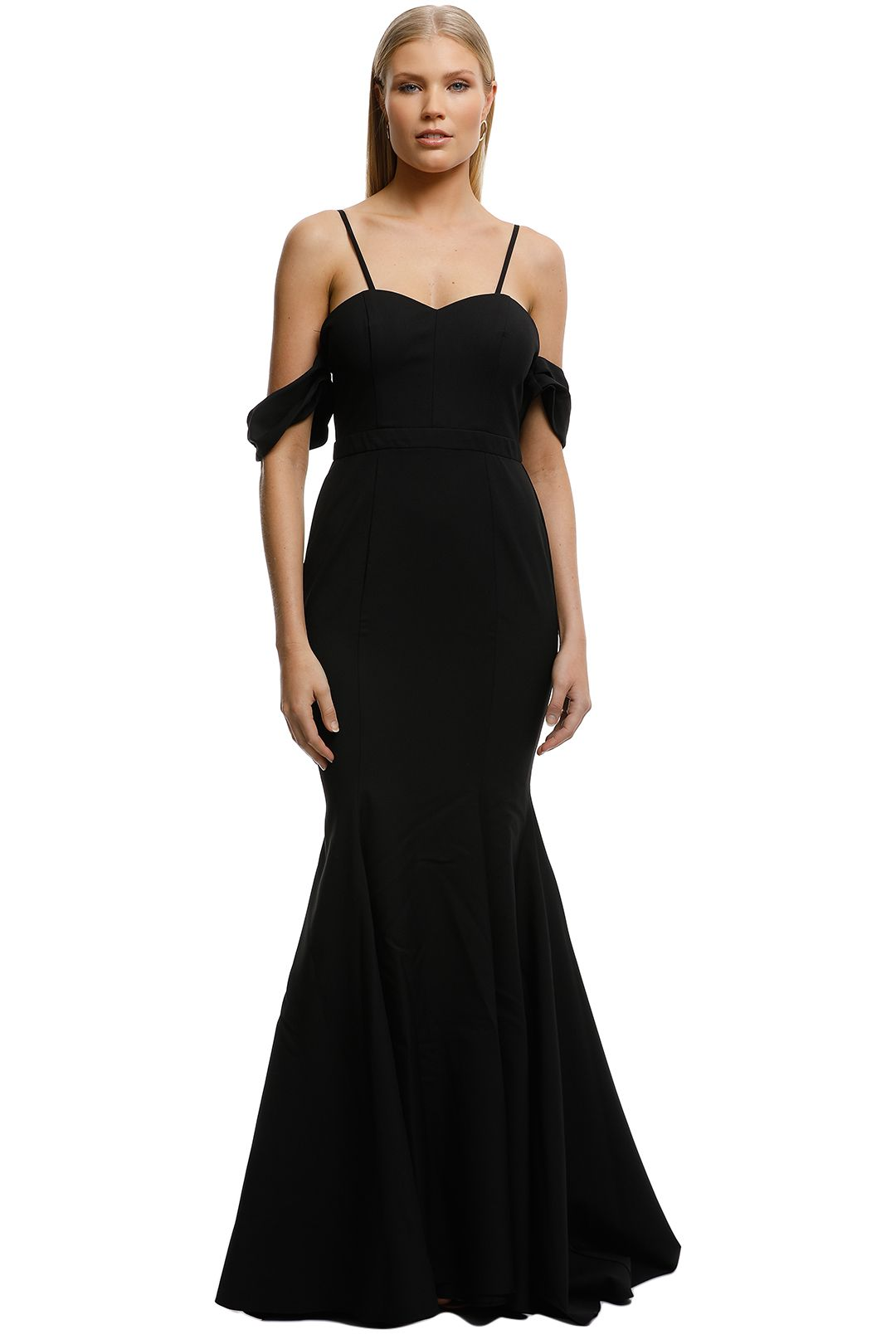 Samantha Rose-Amira Lace Gown-Black-Front