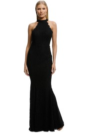 Samantha Rose-Carmen Gown-Black-Front