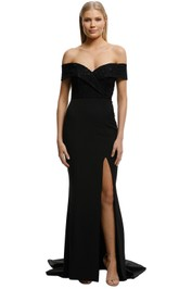 Samantha Rose-Gia Lace Bodice Gown-Black-Front