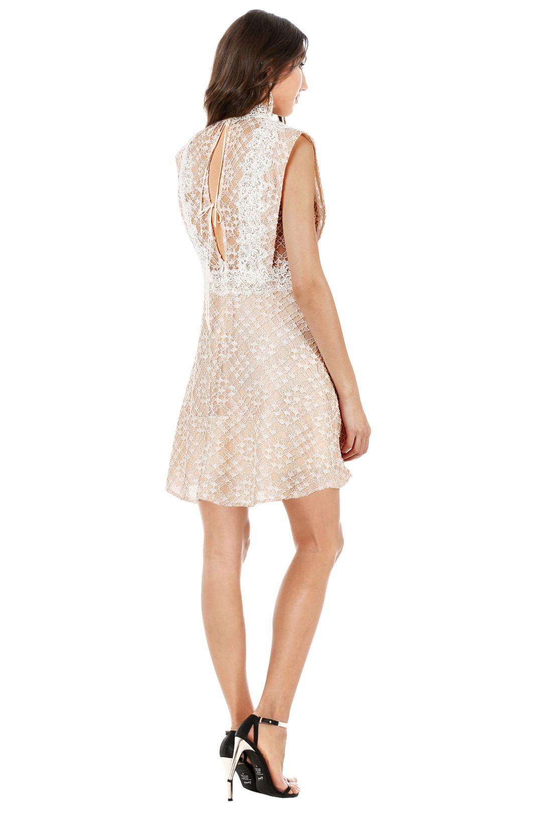 Sandro - Peaches Lace Dress - Cream - Back