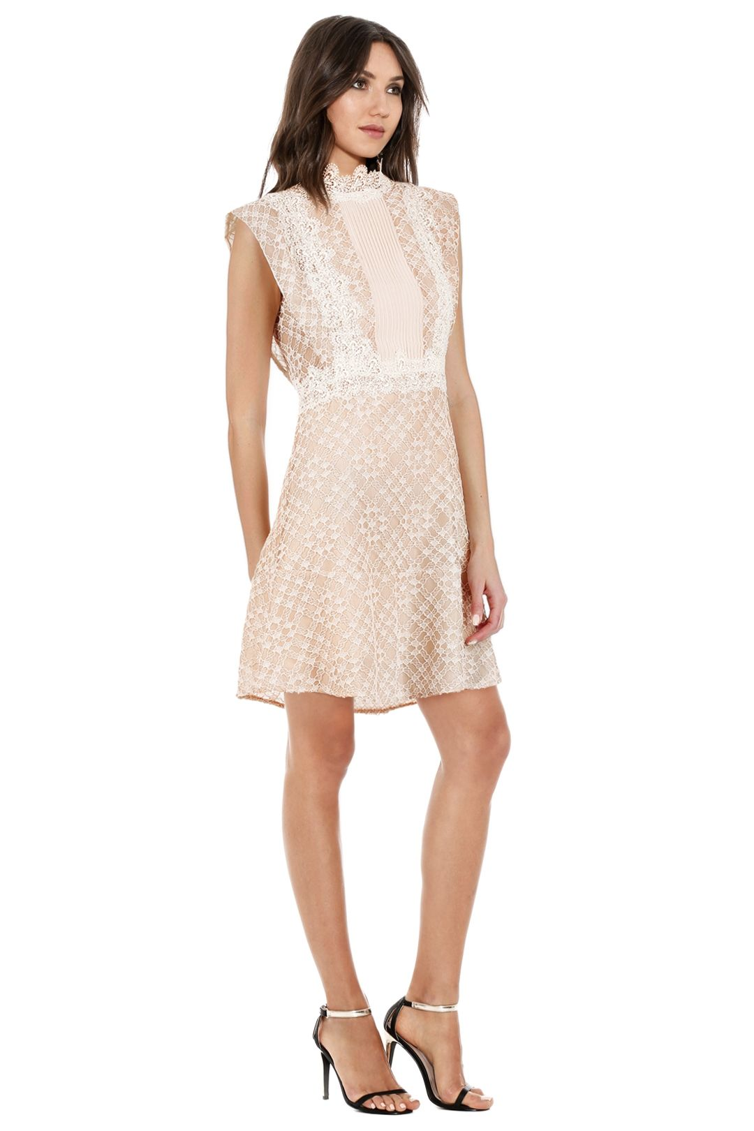 Sandro - Peaches Lace Dress - Cream - Side