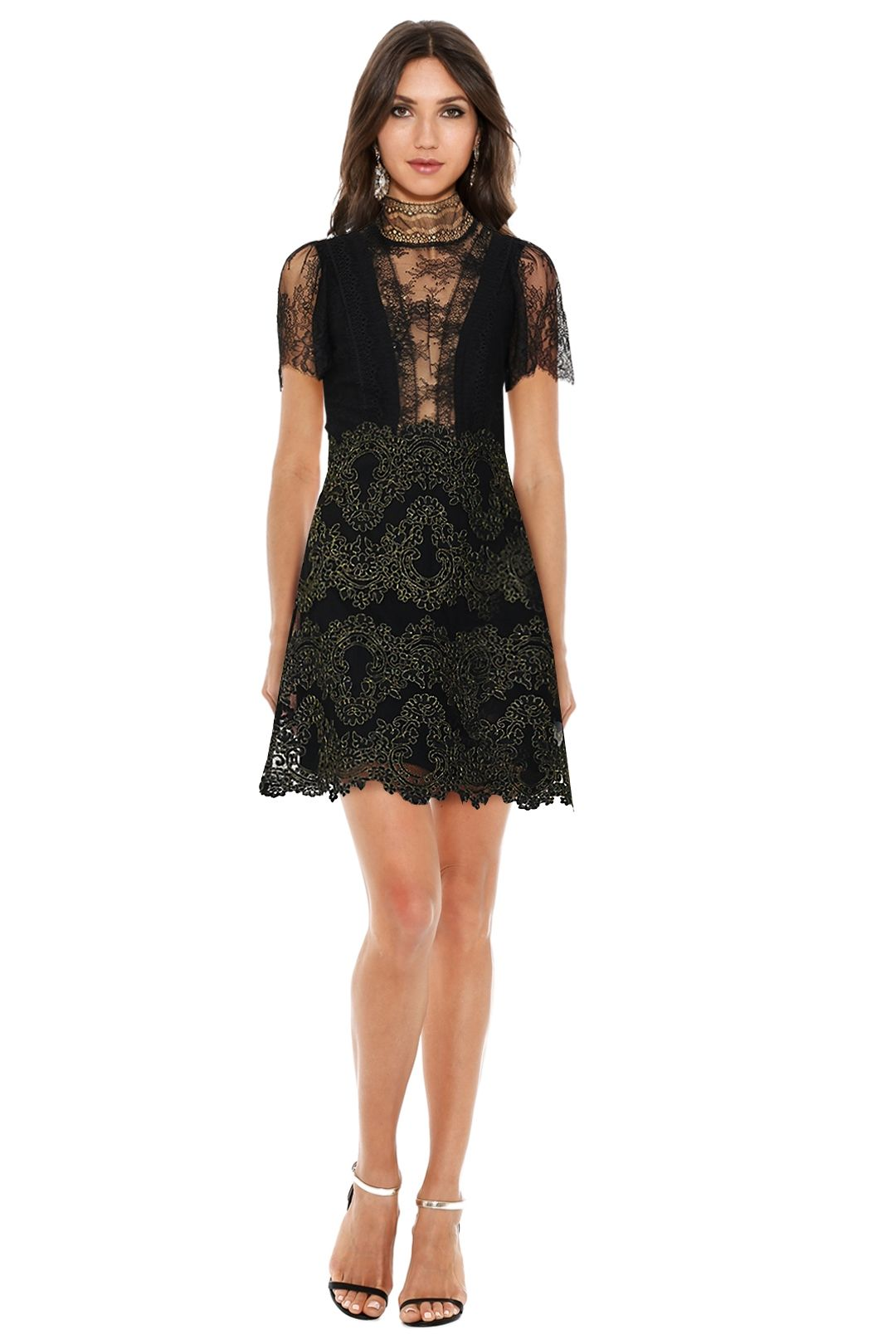 Sandro - Poetry Dress - Black - Front