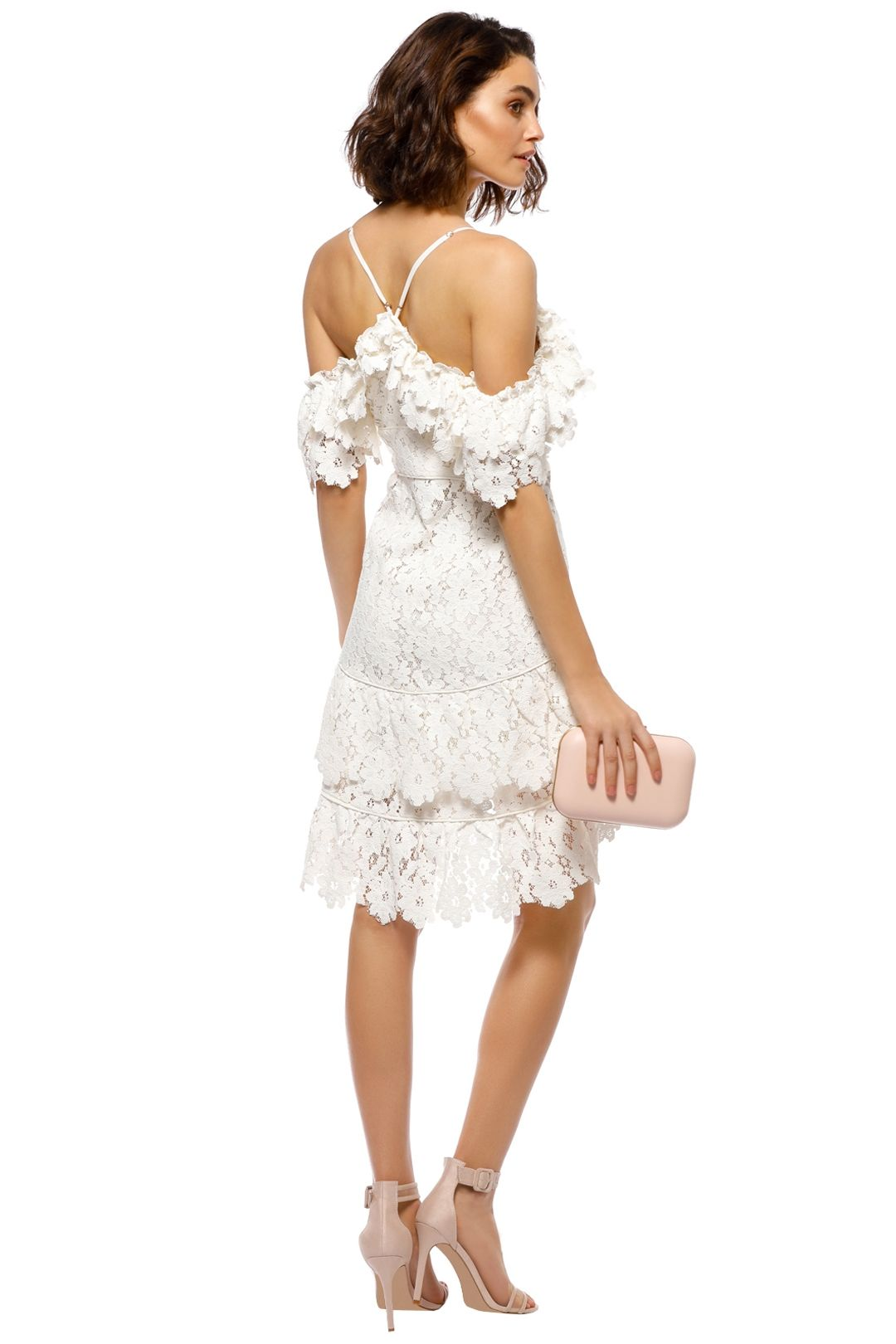 Saylor - Dana Dress - White - Back