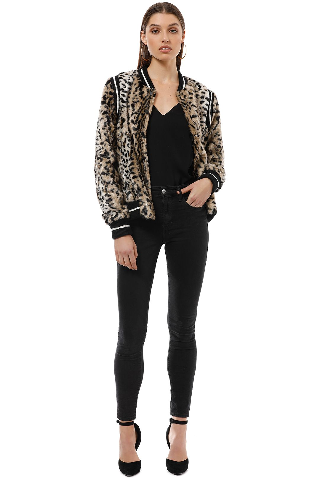 Saylor - Emanuela Bomber Jacket - Leopard - Front