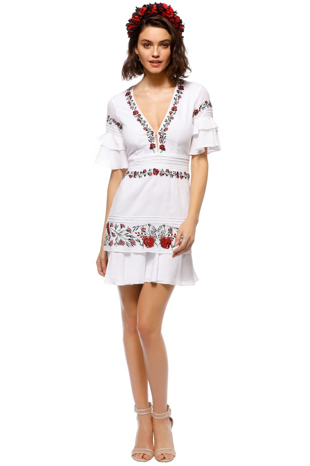 Saylor - Jayne Mini Dress - White - Front