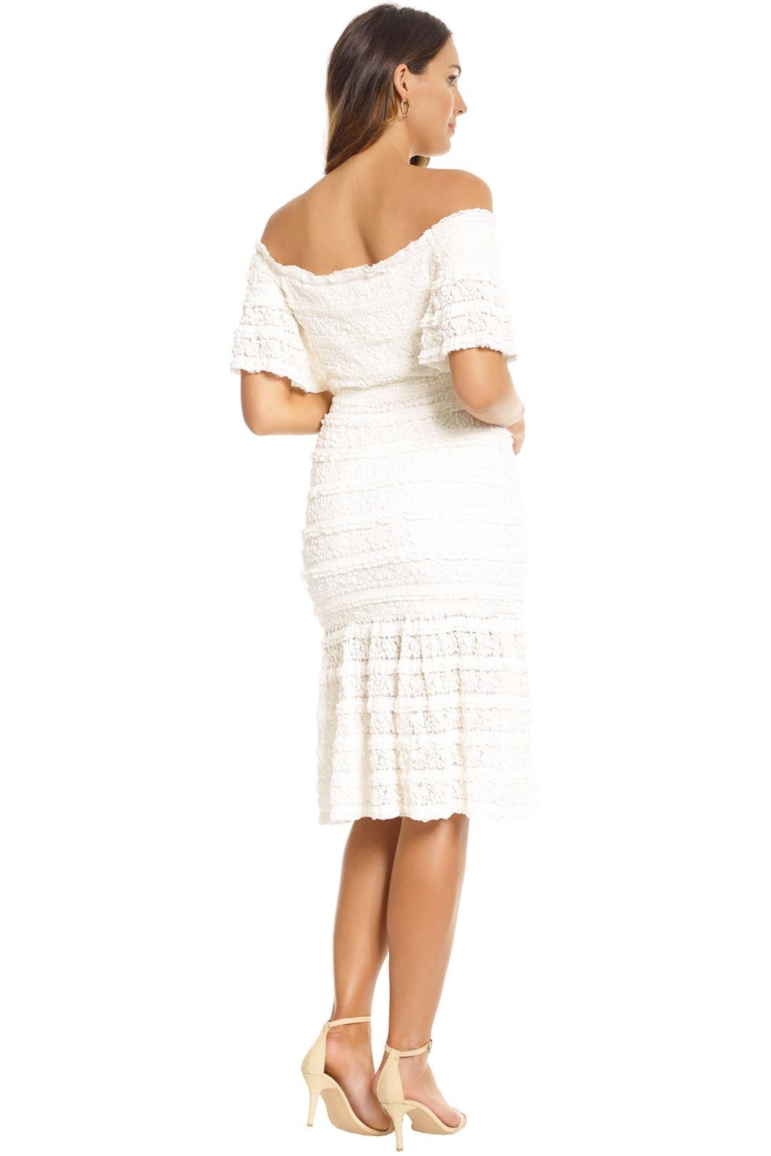 Saylor - Malinda Dress - White - Back