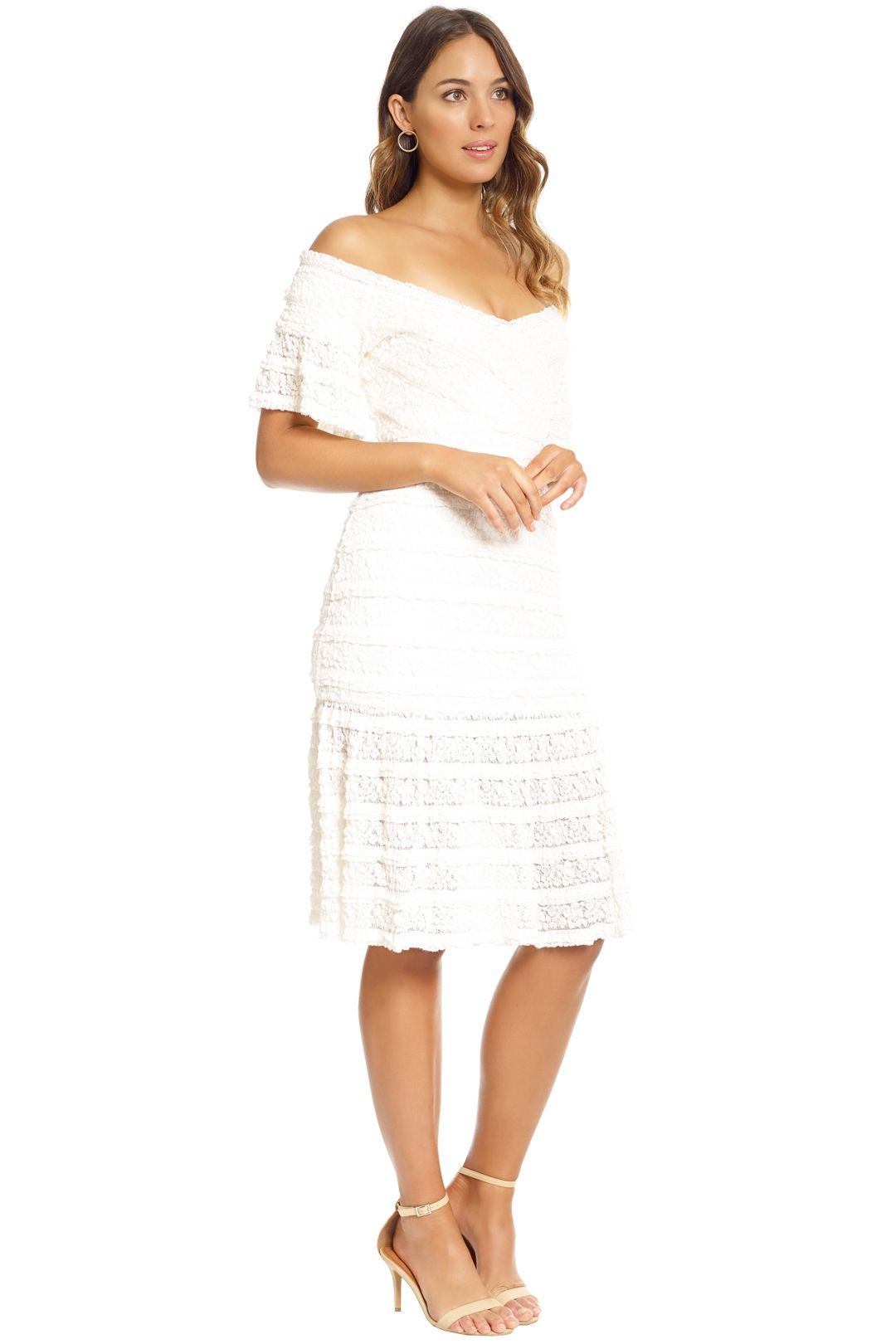 Saylor - Malinda Dress - White - Side