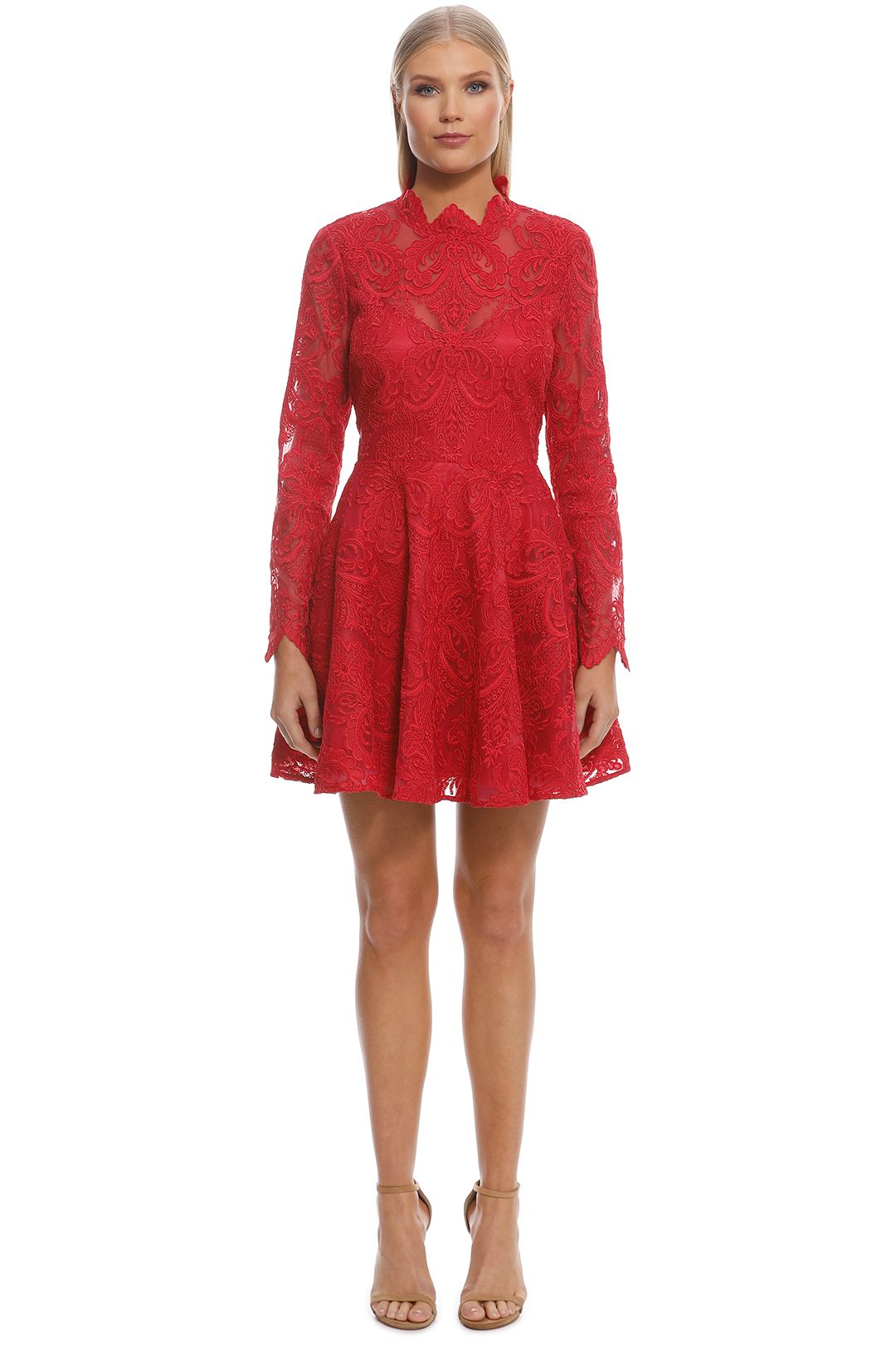 Saylor - Rita Dress - Raspberry - Front