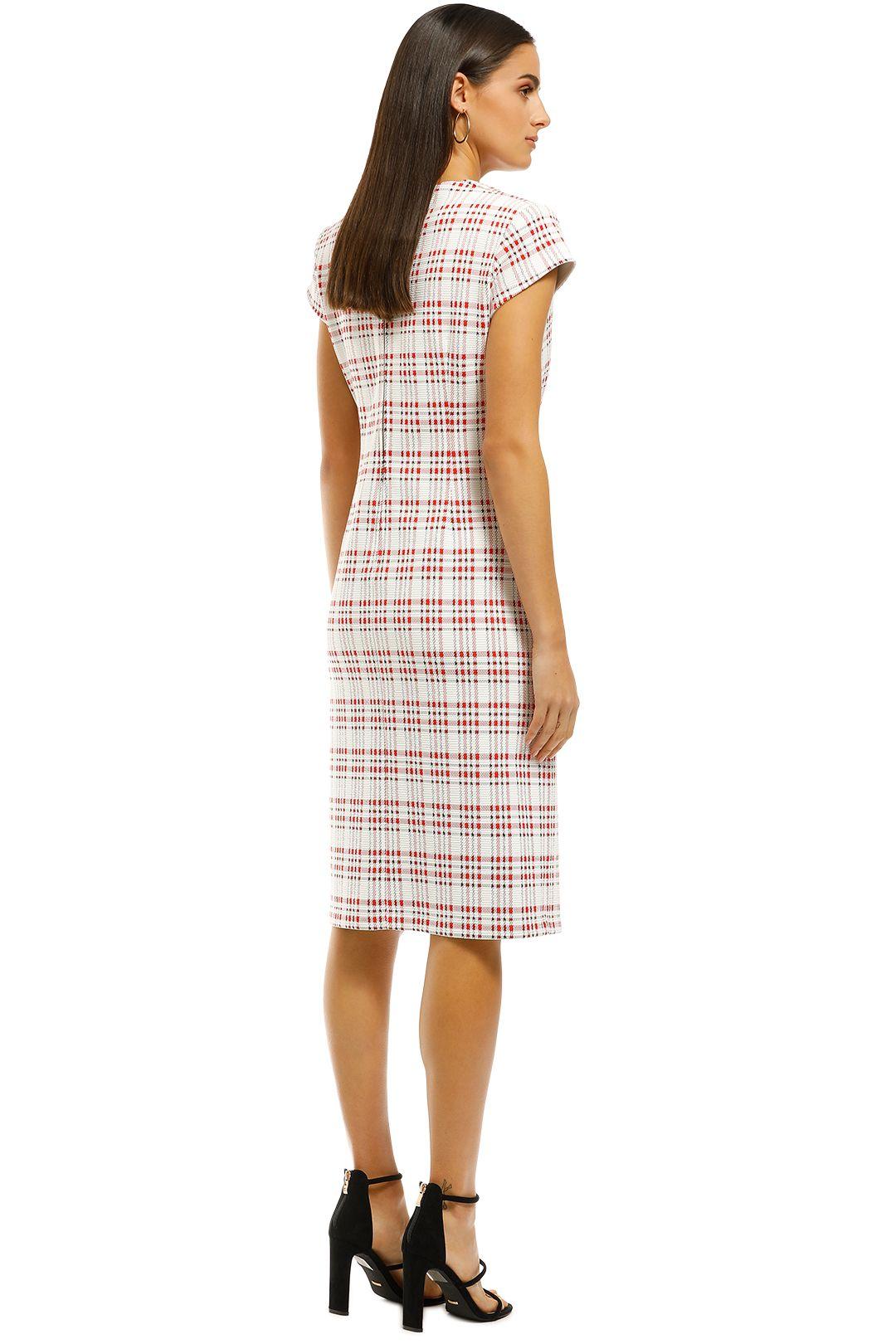 Scanlan-Theodore-Plaid-Turban-Dress-Back