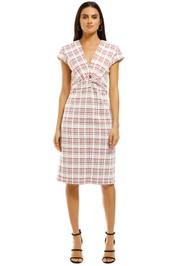 Scanlan-Theodore-Plaid-Turban-Dress-Front