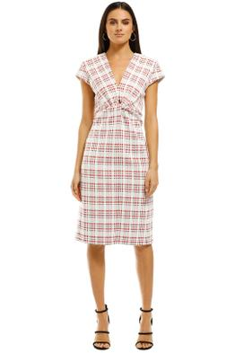 Scanlan-Theodore-Plaid-Turban-Dress-Front