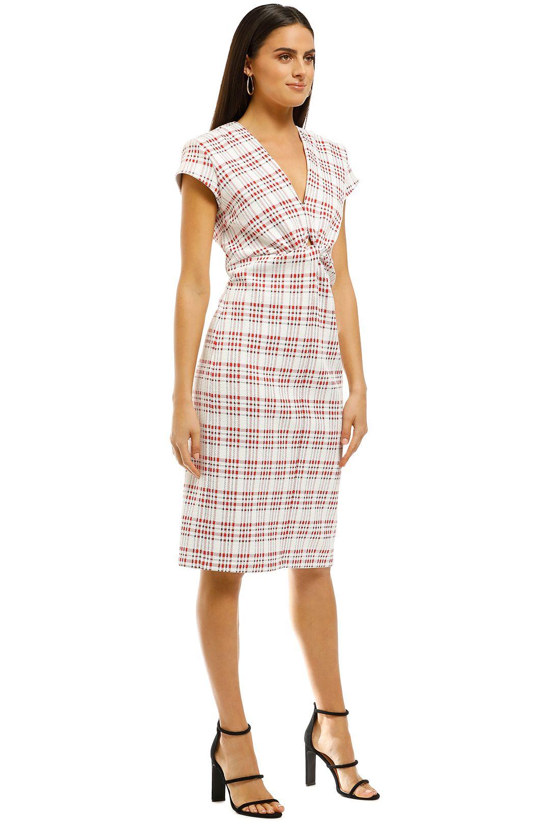 Scanlan-Theodore-Plaid-Turban-Dress-Side