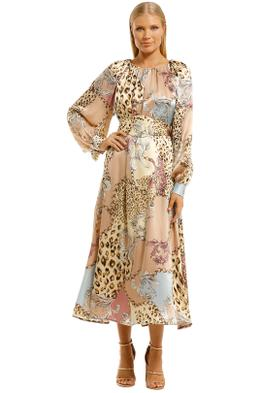 Scanlan-Theodore-Silk-Animal-Chain-Print-Dress-Front