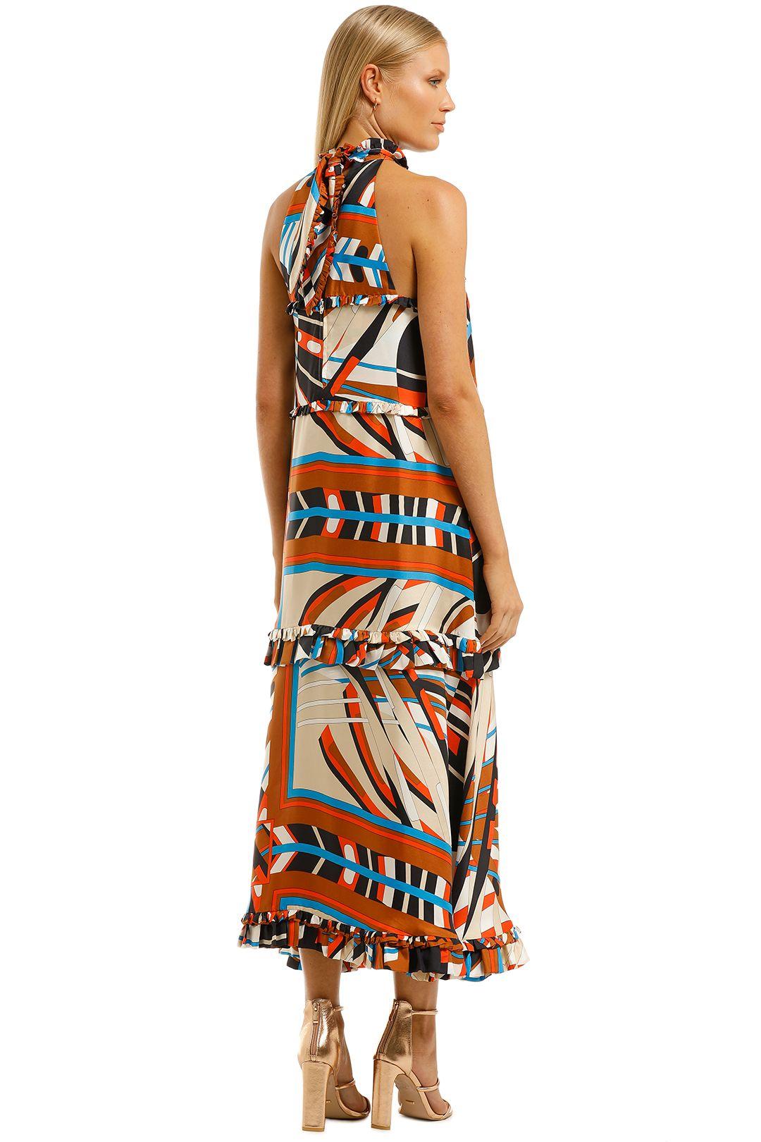 Scanlan-Theodore-Silk-Geometric-Dress-Back