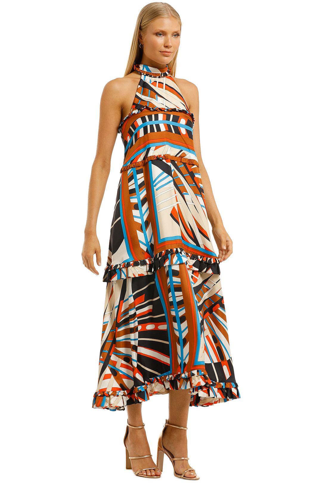 Scanlan-Theodore-Silk-Geometric-Dress-Side