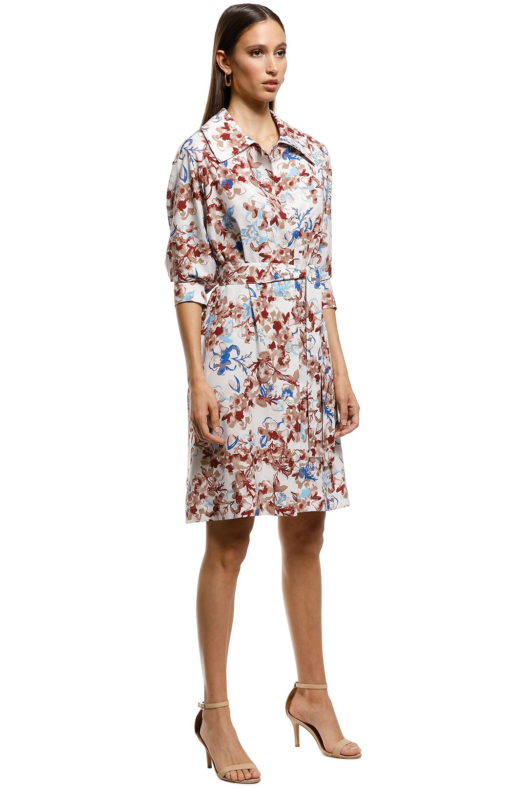 Scanlan Theodore - Belita Trench Dress - Multi - Side