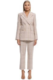 Scanlan Theodore - Check Jacket - Frappe - Front