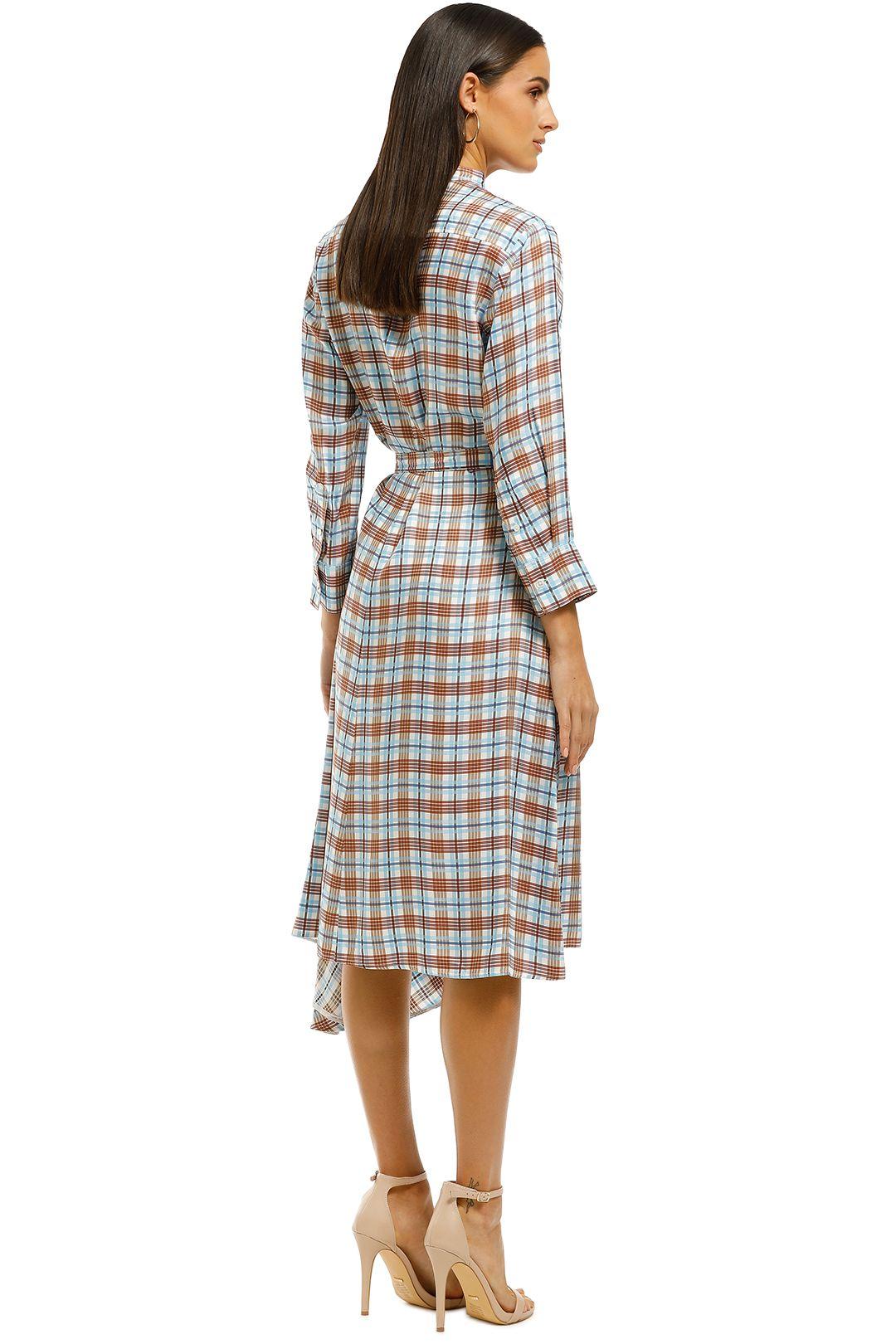 Scanlan Theodore - Check Shirt Dress - Multi - Back